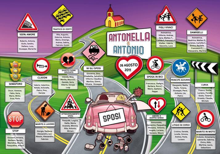 Amato Tableau Grafici Personalizzati Idee originali matrimonio Roma NZ07